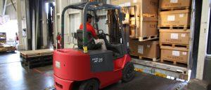operatore di magazzino: carrello elevatore