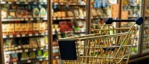 addetto alle vendite: carrello della spesa
